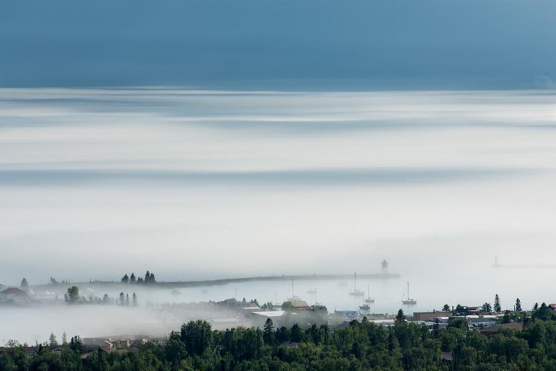 Fog over Grand Marais