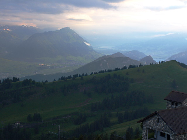 View from summit of Mount Rigi