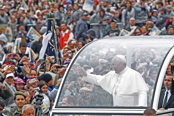 Visita del Papa a la Basílica Nuestra Señora Aparecida
