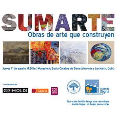 Subasta Solidaria SumArte, Obras de arte que construyen