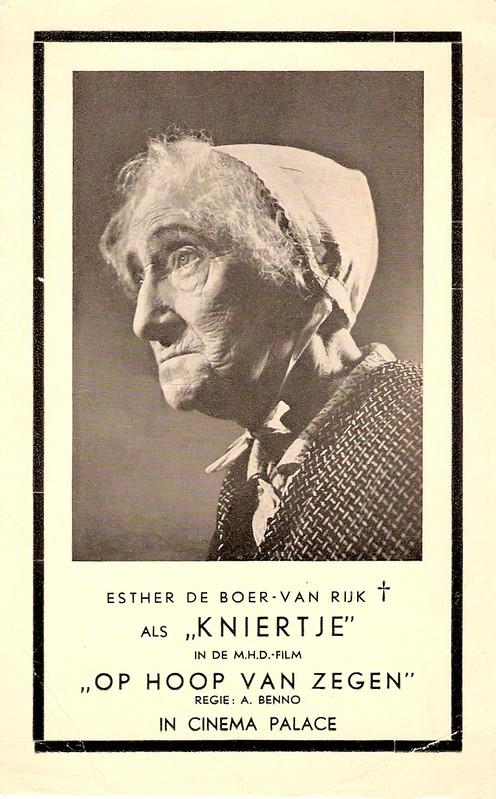 Esther de Boer van Rijk in Op Hoop van Zegen