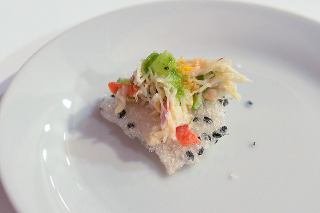 Phorage dungeness crab salad