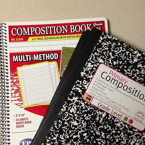 240:365 Have been on the hunt for Kinder composition books... Hope one of these is right (I'm tired of searching for them).