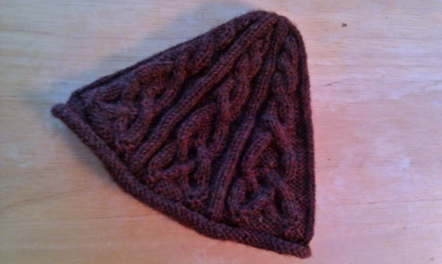 celtic cable hat