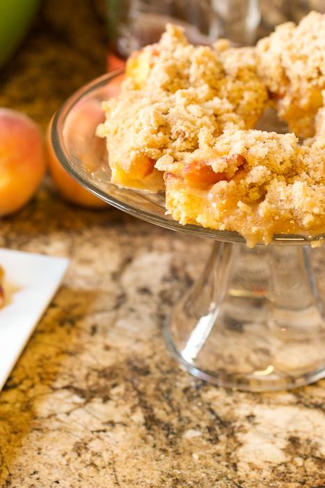 Peach Bourbon Crumb Bars