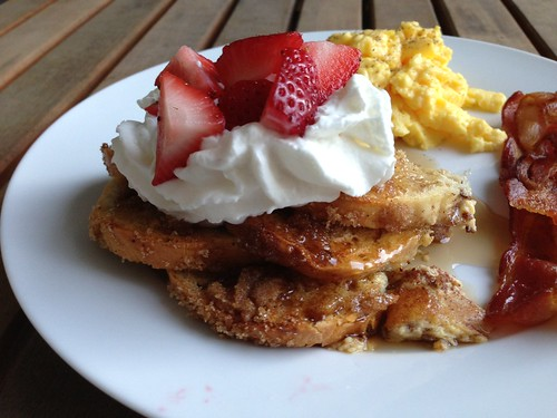 french toast closeup