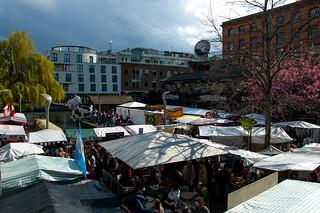 Camden Market sur les bords du Regent's Canal