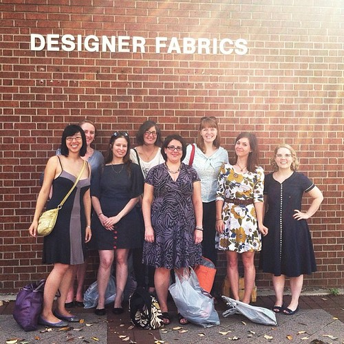 Don't worry, we bought plenty of designer fabrics today @ddisciplines @itsmseliza111 @makizysews @grainlinestudio @GinaGemmel @megthegrand @zilredloh