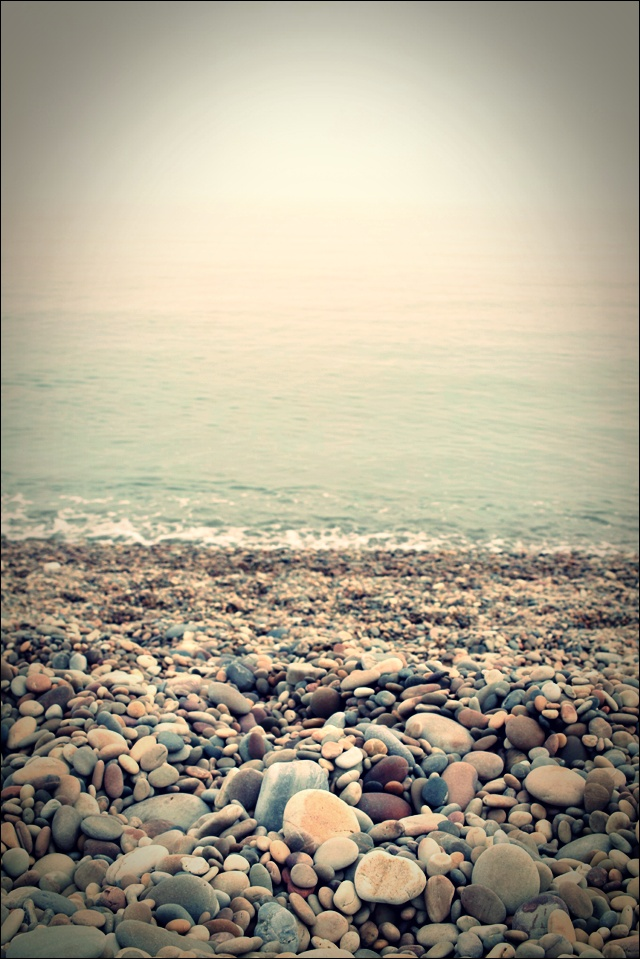 콩돌 해안 콩돌-'백령도 해변'