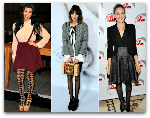 Go For Tights With Designs This Fall