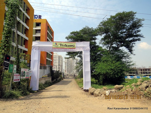 Vibgyor High Behind Kirloskar Brothers' Corporate Office - Handing Over Ceremony of Sanjeevani Developers' Sangam at Sus on Sunday 20th October 2013