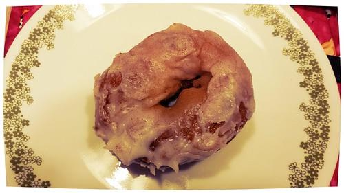 iced pumpkin donut