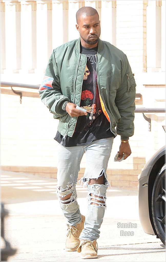 Kanye West is seen leaving Barneys New York in Beverly Hills