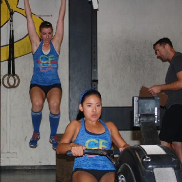 Renee & Monart smashing their first competition. #femmeroyale #rowing #crossfit #crossfitcompetition #womenofcrossfit