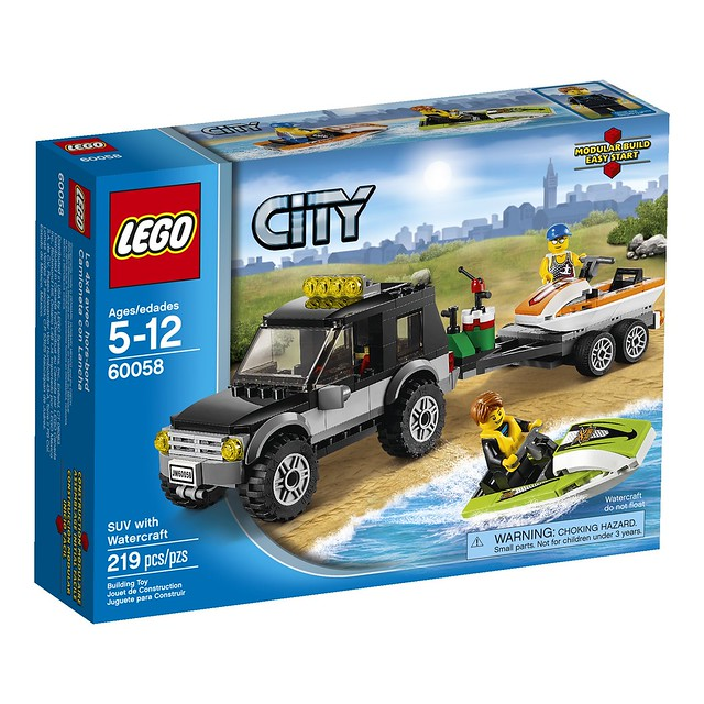 LEGO City 60058 - SUV with Watercraft