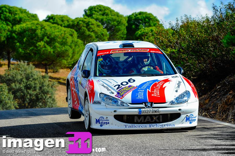 Pedro Cordero, Peugeot 206 Maxi, Rallye Sierra Morena 2013