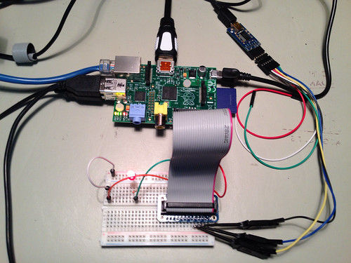 Raspberry Pi in Diminuto Test Fixture
