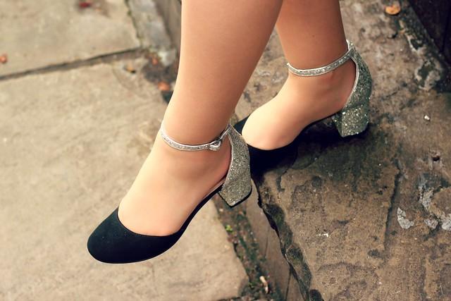 Sparkle Topshop Mid Heels