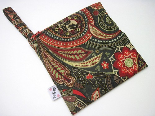 Green/Red Winter Paisley Wet/Dry Bag