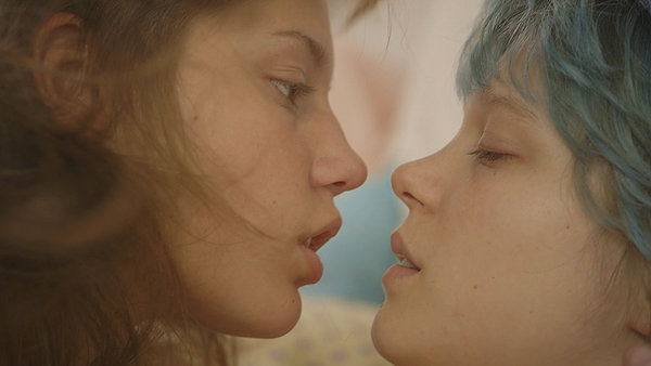 Adèle Exarchopoulos and Léa Seydoux get it on for a bit too long in BLUE IS THE WARMEST COLOR.