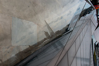 The Shard en reflet sur la terrasse du One New Change