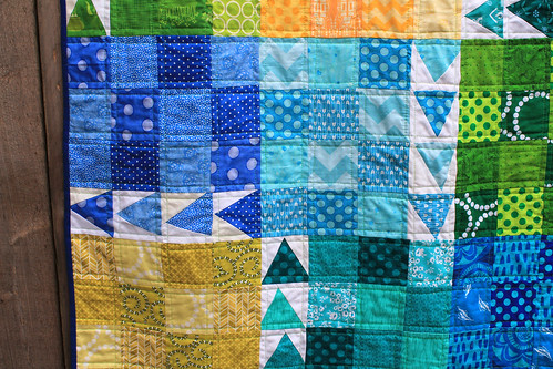 finished urban chicken quilt detail 2