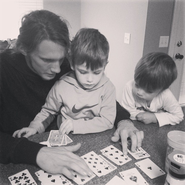 Cards with Uncle Jacob.