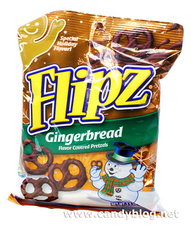 Flipz Gingerbread Flavor Coated Pretzels
