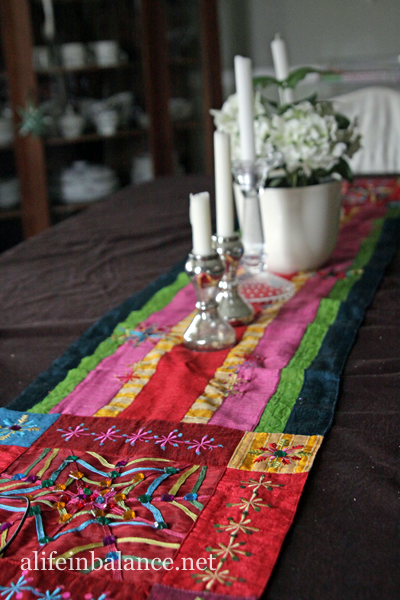 Christmas 2013 House Tour: Table runner from Pier One