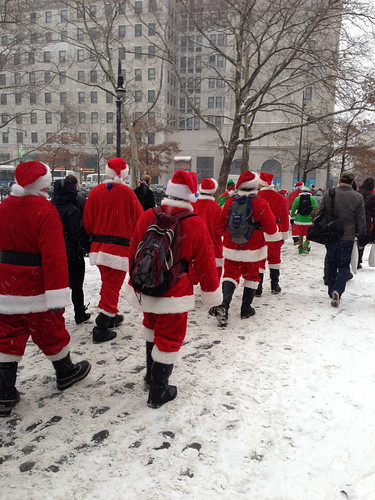 A phalanx of Santa Conners