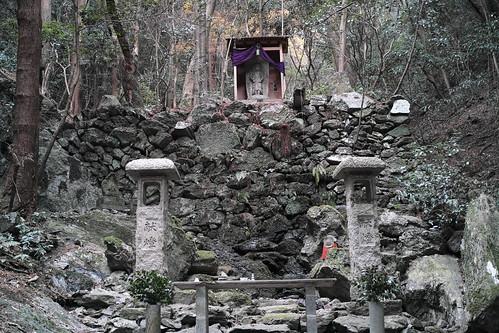 上醍醐寺参道、不動の滝