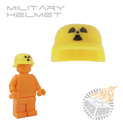 Military Helmet - Yellow (black radiation print)