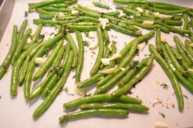 Roasting Green Beans