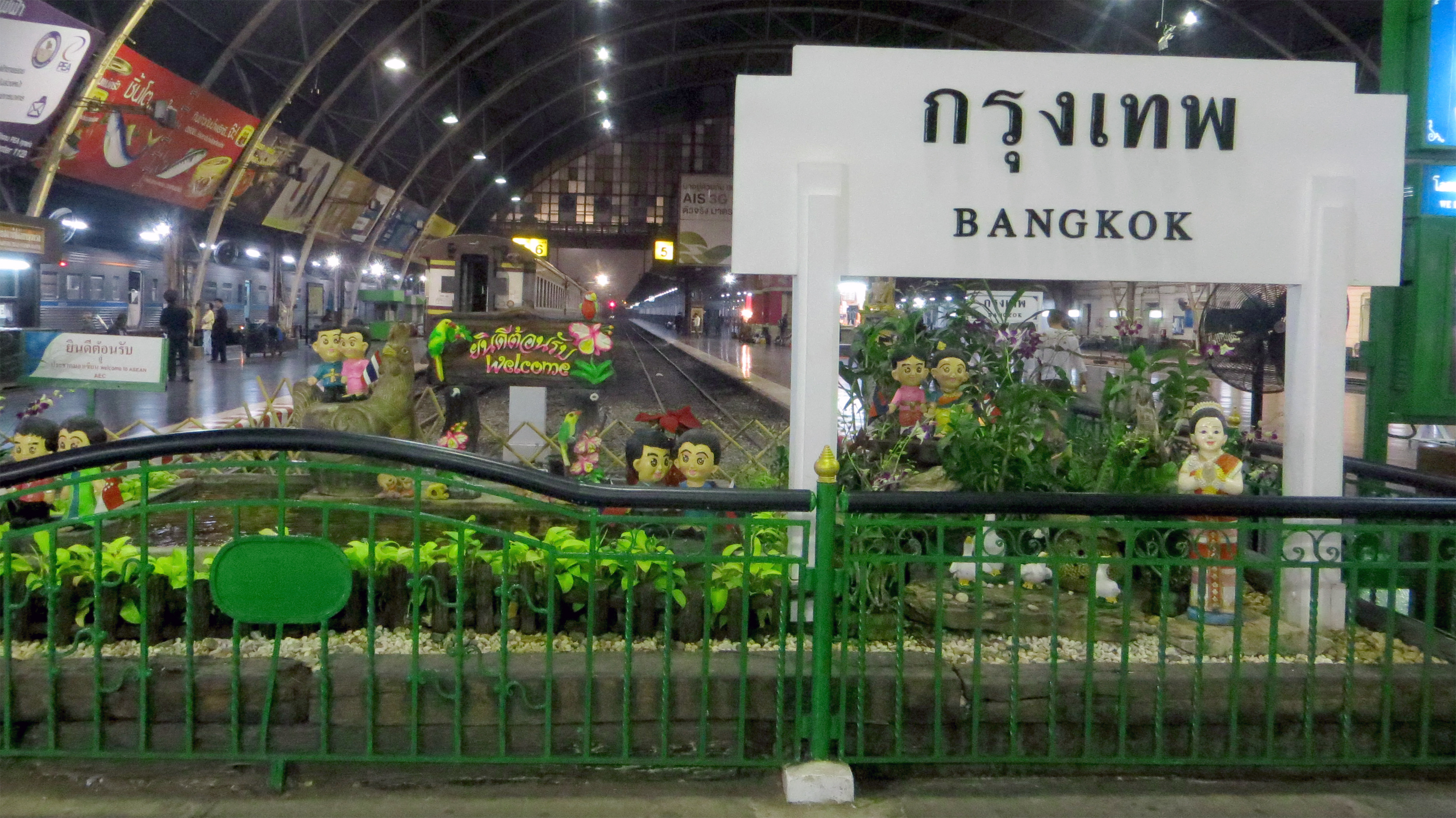 Hua Lamphong Train Station, Bangkok, Thailand, Dec 2013