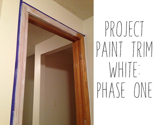 Painting Trim White Phase 1
