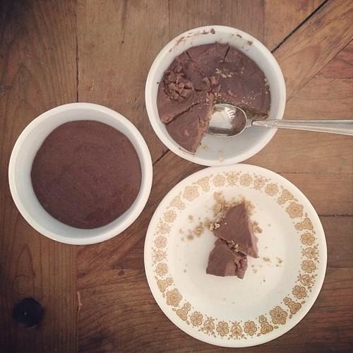 My #vegan custard pies made with cacao + fresh almond milk. #glutenfree #theindiekitchen