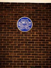 Photo of Edward Goodrich Acheson blue plaque