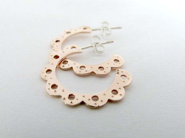 'Lois' Hoops Rose Gold