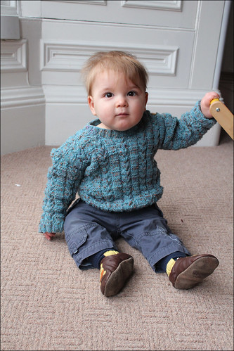cabled baby jumper