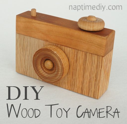 wood toy camera
