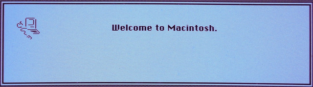 Header of welcome to macintosh