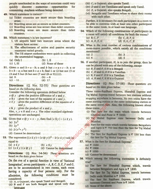CAT Previous Year Question Papers PDF with Answers - Download