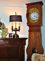 decor, furniture, wood, room, longcase clock, interior design, antique, clock, lighting,