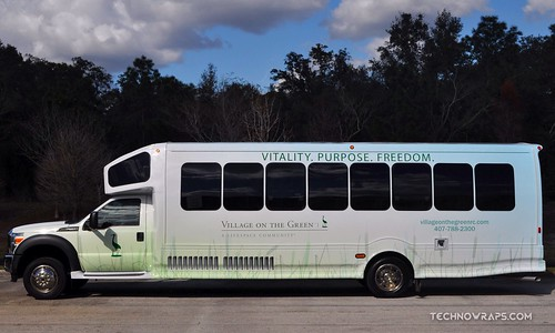 Bus wrap by TechnoSigns in Orlando, Florida