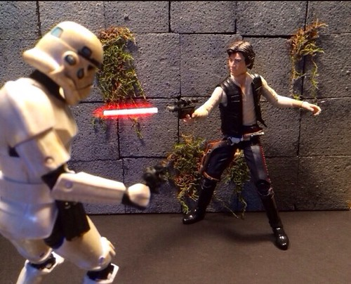 "Playing Around With Laser Blasts FX Star Wars Black Series 6"" Line Shot #2"
