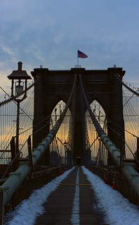 Brooklyn Bridge at dawn