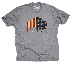 American Flag Buffalo T-Shirt