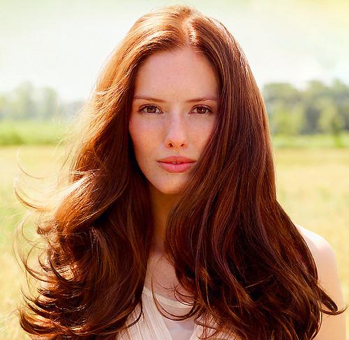 Weleda natural hair care model image