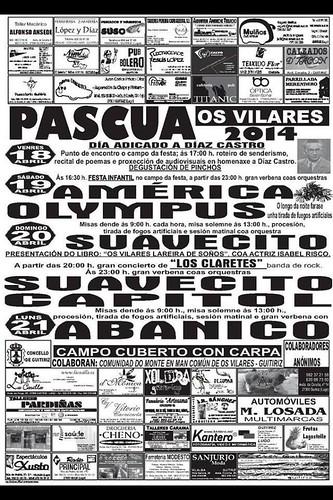 Guitiriz 2014 - Festas de Pascua nos Vilares - cartel