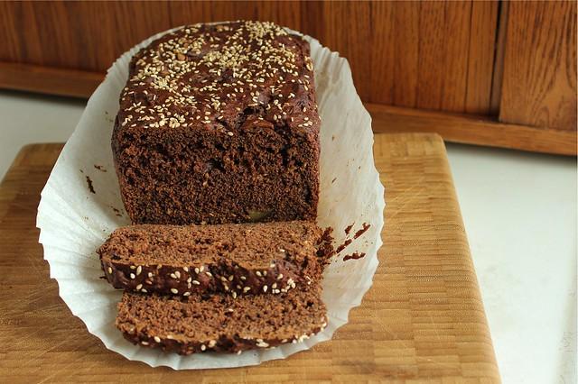 chocolate tahini bread